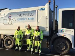 Banner skraldebil affald kampagne